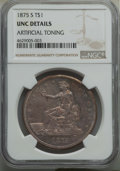 Trade Dollars: , 1875-S T$1 -- Artificial Toning -- Details NGC. Unc. NGC Census:(23/717). PCGS Population: (45/861). MS60. Mintage 4,487,0...