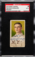Autographs:Sports Cards, Signed 1909-11 T206 Sweet Caporal Rube Marquard (Portrait) SGCAuthentic. ...