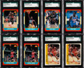 Basketball Cards:Lots, 1986 Fleer Basketball High-Grade Collection (208) With Two JordanRookies. ...
