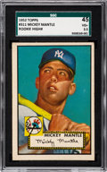 Baseball Cards:Singles (1950-1959), 1952 Topps Mickey Mantle #311 SGC 45 VG+ 3.5....