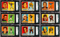 Football Cards:Sets, 1957 Topps Football Near Set (128/154) With Unitas, Starr andHornung. ...