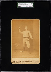 1888-89 N173 Old Judge Cabinet Tommy McCarthy (#301-2) SGC 50 VG/EX 4 - Only Two Graded Examples!