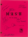 "Movie/TV Memorabilia:Autographs and Signed Items, M*A*S*H Cast Signed ""Say No More"" Script (20th Century Fox / CBS, 1982)...."