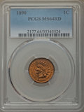 Indian Cents, 1890 1C MS64 Red PCGS. NGC Census: (41/20). PCGS Population: (90/63). MS64. Mintage 57,182,856....