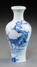 Asian:Chinese, A Chinese Blue and White Jurentang Porcelain Vase, Republic Period,circa 1912-1949. Marks: Four-character Jurentang seal. 6...