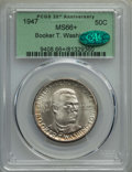 Commemorative Silver, 1947 50C Booker T. Washington MS66+ PCGS. CAC. PCGS Population: (295/9 and 26/2+). NGC Census: (149/9 and 5/0+). CDN: $200 ...