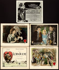 """Movie Posters:Romance, Lorna Doone & Other Lot (Associated First National Pictures,1922). Title Lobby Cards (2) & Lobby Cards (3) (11"""" X 14"""" &11""""... (Total: 5 Items)"""