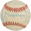 Autographs:Baseballs, 1975 Detroit Tigers Team Signed Baseball (24 Signatures).. ...