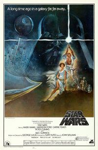 "Star Wars (20th Century Fox, 1977). Soundtrack One Sheet (27"" X 41""). Tom Jung Artwork"