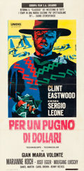 "Movie Posters:Western, A Fistful of Dollars (Unidis, R-1969). Italian Locandina (13"" X 26.5"") Michelangelo Papuzza Artwork.. ..."