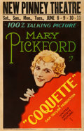 """Movie Posters:Drama, Coquette (United Artists, 1929). Window Card (14"""" X 22"""").. ..."""