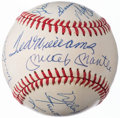 Autographs:Baseballs, 500 Home Run Club Multi-Signed Baseball (11 Signatures), Full PSALOA.. ...