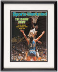 """Autographs:Others, Magic Johnson Signed, Framed """"Sports Illustrated"""" Cover Print.. ..."""