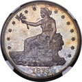Trade Dollars, 1876-CC T$1 Type Two Reverse -- Chopmarked -- NGC Details. Unc....