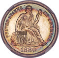 Proof Seated Dimes, 1880 10C PR67 Cameo NGC. CAC. F-101, R.3....