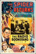 """Movie Posters:Serial, The Spider Returns (Columbia, 1941). One Sheet (27"""" X 41"""") Chapter7 -- """"The Radio Boomerang."""" Serial.. ..."""