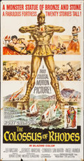 "Movie Posters:Adventure, The Colossus of Rhodes (MGM, 1961). Folded, Fine+. Three Sheet (41""X 79""). Adventure.. ..."