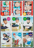 Baseball Cards:Other, 1969 Topps Baseball 9-Card Uncut Panel With Rollie Fingers. ...