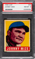Baseball Cards:Singles (1940-1949), 1948 Leaf Johnny Mize #46 PSA NM-MT 8....