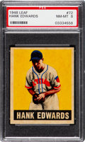 Baseball Cards:Singles (1940-1949), 1948 Leaf Hank Edwards #72 PSA NM-MT 8....