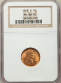 Lincoln Cents: , 1948-S 1C MS66 Red NGC. NGC Census: (2442/587). PCGS Population: (2660/283). CDN: $20 Whsle. Bid for problem-free NGC/PCGS ...