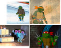 Animation Art:Production Cel, Teenage Mutant Ninja Turtles Leonardo, Michelangelo, Donatello, and Raphael Production Cel Group of 4 (Murakami-Wolf-S... (Total: 4 )