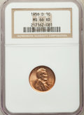 Lincoln Cents: , 1956-D 1C MS66 Red NGC. NGC Census: (3287/111). PCGS Population: (2045/73). CDN: $30 Whsle. Bid for problem-free NGC/PCGS M...