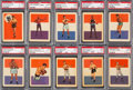 Boxing Cards:General, 1956 Adventure Boxing PSA Graded Complete Set (21) With SchmelingPSA NM-MT 8....