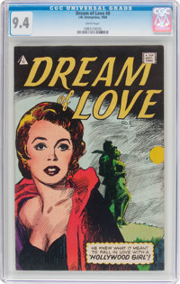 Dream of Love #8 (I.W., 1958) CGC NM 9.4 White pages