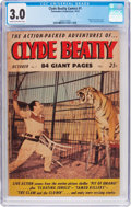 Golden Age (1938-1955):Adventure, Clyde Beatty Comics #1 (Commodore, 1953) CGC GD/VG 3.0 Cream tooff-white pages....