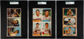Baseball Cards:Singles (1950-1959), 1953 - 1955 Bowman Baseball Salesman Sample 3 or 4-Card Panels SGC Authentic. ...