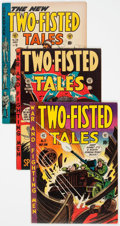 Golden Age (1938-1955):War, Two-Fisted Tales Group of 4 (EC, 1952-54) Condition: Average FN....(Total: 4 Comic Books)