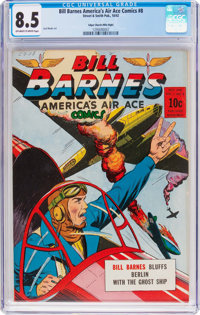 Bill Barnes America's Air Ace Comics #8 Mile High Pedigree (Street & Smith, 1942) CGC VF+ 8.5 Off-white to white pag...