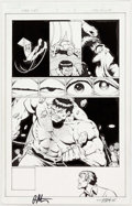 Jim Starlin and Andy Smith Thanos vs. Hulk #3 Story Page 7 Original Art (Marvel, Comic Art