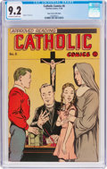 Golden Age (1938-1955):Religious, Catholic Comics #6 Mile High Pedigree (Catholic Publications, 1946) CGC NM- 9.2 Off-white to white pages....