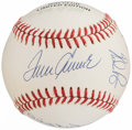 Autographs:Baseballs, 300 Win Club Multi-Signed Baseball (8 Signatures).. ...
