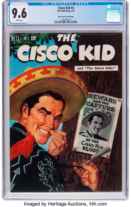 The Cisco Kid #3 Mile High Pedigree (Dell, 1951) CGC NM+ 9.6 White pages....