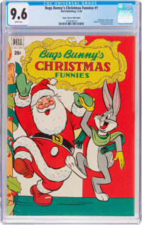 Dell Giant Comics: Bugs Bunny Christmas Funnies #1 Mile High Pedigree (Dell, 1950) CGC NM+ 9.6 White pages