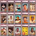 Baseball Cards:Sets, 1962 Topps Baseball Mid to High Grade Complete Set (598+12 Variations) With 97 Graded Cards....