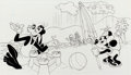 Animation Art:Production Drawing, Goofy and Friends Storybook Illustrations Group of 4 (Walt Disney,c. 1980s).... (Total: 4 Original Art)