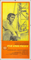"Movie Posters:Drama, Five Easy Pieces (Columbia, 1970). International Three Sheet (41"" X78.5""). Drama.. ..."