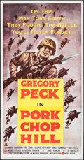 "Movie Posters:War, Pork Chop Hill (United Artists, 1959). Three Sheet (41"" X 79"").War.. ..."