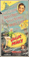 """Movie Posters:Comedy, Value for Money (Rank, 1955). British Three Sheet (40"""" X 79"""").Comedy.. ..."""