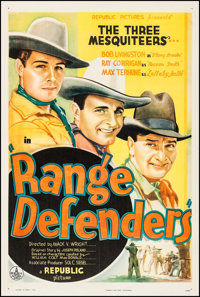 "Range Defenders (Republic, 1937). One Sheet (27.5"" X 41""). Western"