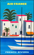 """Movie Posters:Miscellaneous, Air France: French Riviera (Air France, c.1965). Full Bleed TravelPoster (24.5"""" X 39.5"""") Guy Georget Artwork. Miscel..."""
