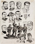 Dick Ayers Sgt. Fury and his Howling Commandos Character Model Reference Sheets  Comic Art