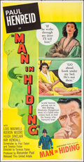 """Movie Posters:Crime, Man in Hiding (United Artists, 1953). Three Sheet (41"""" X 79.5"""").Crime.. ..."""