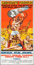 "Movie Posters:Action, Mighty Ursus (United Artists, 1962). Three Sheet (41"" X 79"").Action.. ..."
