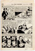 Carmine Infantino and Joe Giella All Star Western #59 Story Page 6 Original Art  Comic Art
