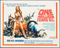"Movie Posters:Fantasy, One Million Years B.C. (20th Century Fox, 1966). Half Sheet (22"" X28""). Fantasy.. ..."